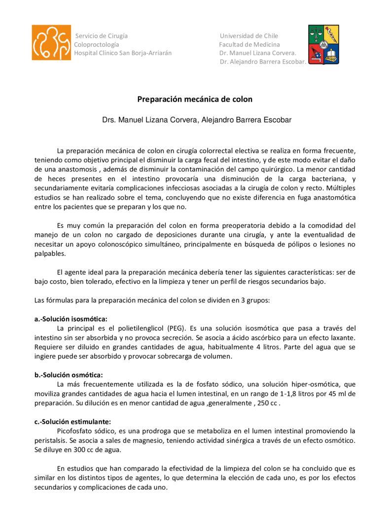 thumbnail of 13. Preparacion} mecanica de colon (Dr. Lizana)