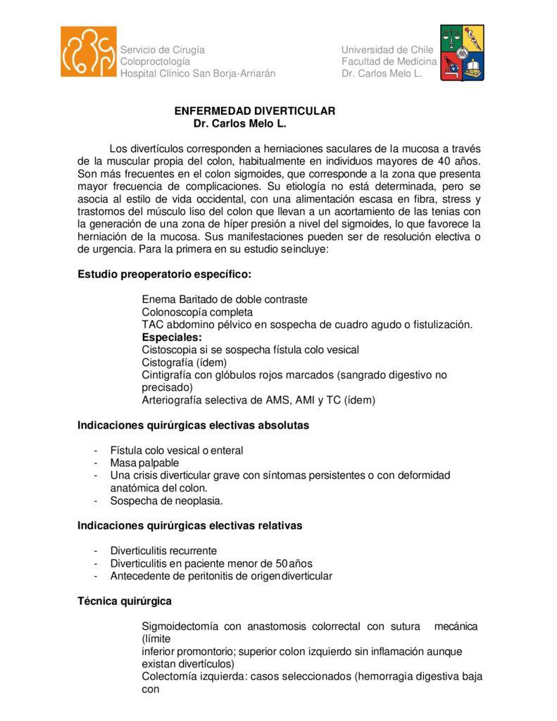 thumbnail of 2. Enfermedad diverticular de colon (Dr. Melo)