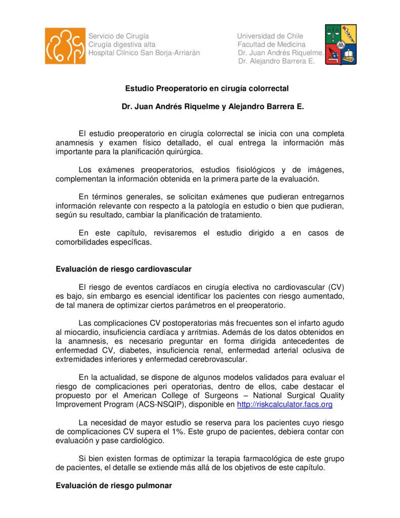 thumbnail of 4. Estudio preoperatorio en cirugia colorrectal (Dres. Riquelme – Barrera)