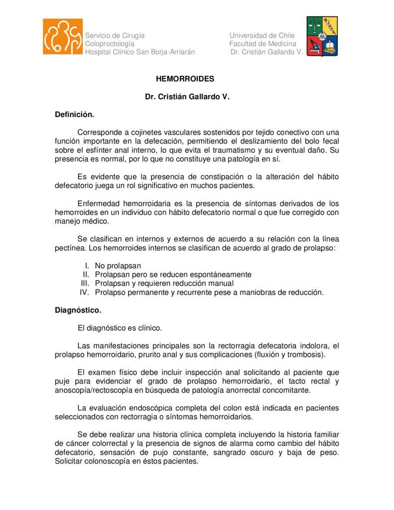 thumbnail of 9. Enfermedad hemorroidaria (Dr. Gallardo)